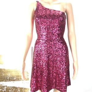 Dress The Population Red Sequin Party Dress